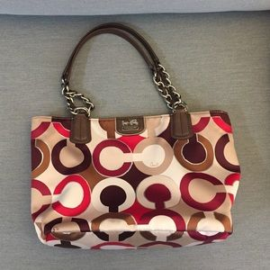 Coach handbag in red with coach logo